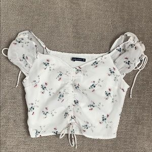 Abercrombie and Fitch Ruffled Top